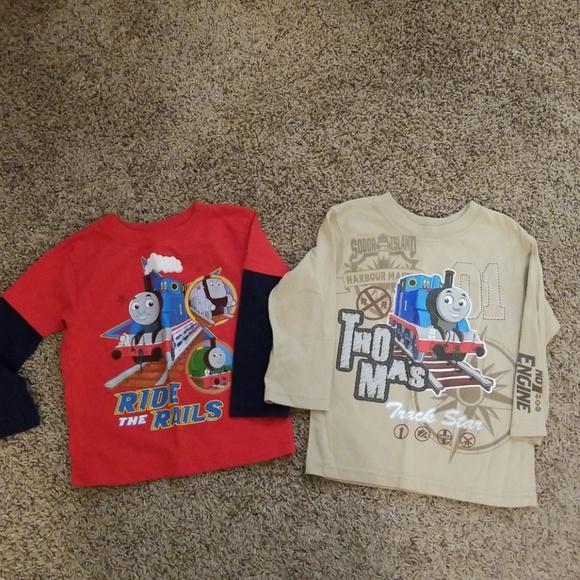 Thomas /& Friends Boys No.1 Engine Long Sleeve Striped Hooded Sweatshirt Blue